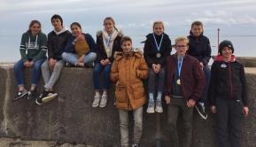 Team Windsurf, Octave et Gaspard CARFANTAN en or et Amélie VIDOR 1ère féminie